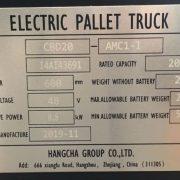 2 Ton Li-ion Pallet Truck